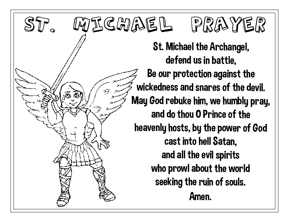 St. Michael Prayer Poster Screenshot